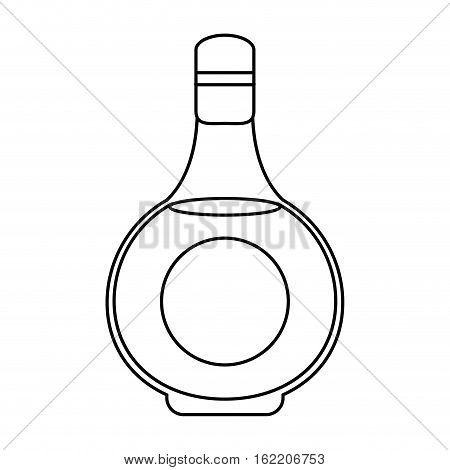cognac bottle alcochol drink style outline vector illustration eps 10