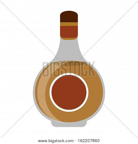 cognac bottle alcochol drink style vector illustration eps 10