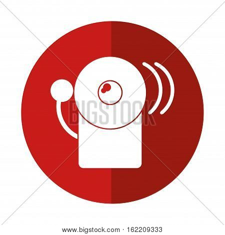 alarm fire emergency alert icon red circle vector illustration eps 10