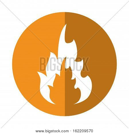 hot flame spurts fire design yellow circle vector illustration eps 10