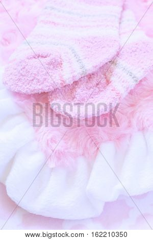 Pink layette for a newborn baby girl