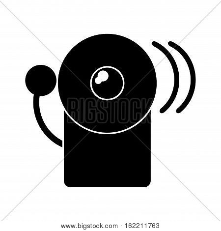 silhouette alarm fire emergency alert icon vector illustration eps 10