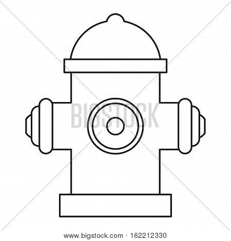 red fire hydrant fire fighting line vector illustration eps 10
