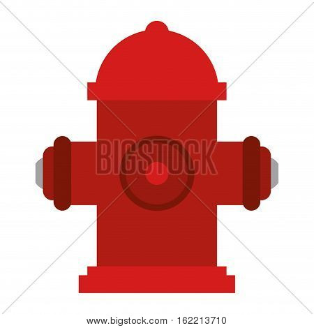 red fire hydrant fire fighting vector illustration eps 10