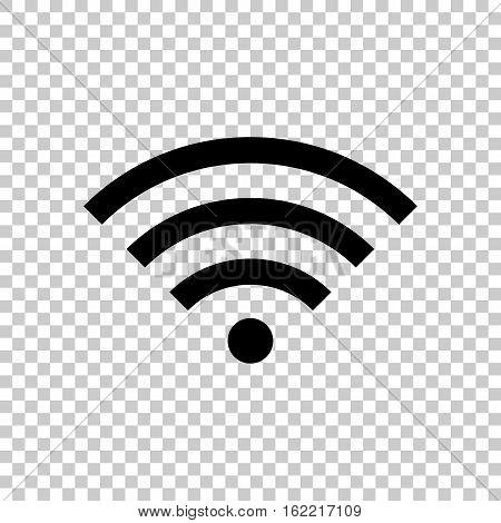 Wi-fi Icon. Black Icon On Transparent Background.