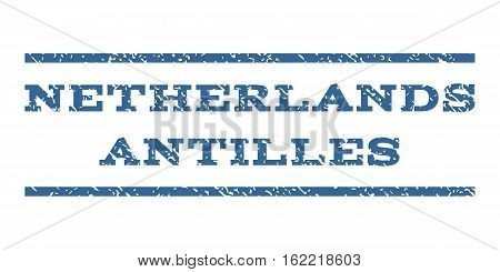 Netherlands Antilles watermark stamp. Text caption between horizontal parallel lines with grunge design style. Rubber seal stamp with dust texture.