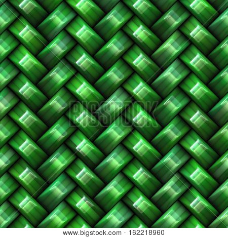 Twill green Weave Texture. Abstract Geometric Background Design. Seamless Multicolor Pattern.