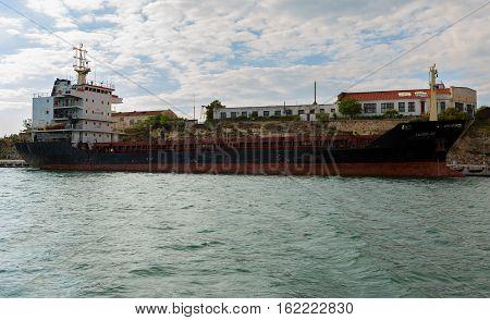Sevastopol, Russia - June 09, 2016: Average sea dry cargo transport Kyzyl-60