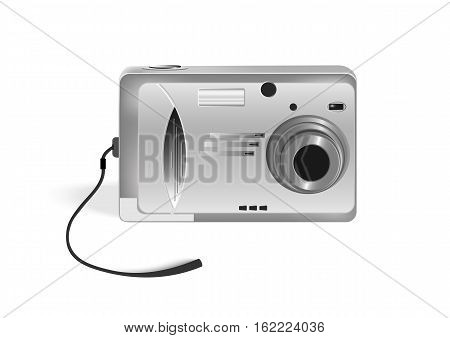Vector illustration photocamera with shadows and hotspots.