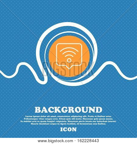 Podcast Icon Sign. Blue And White Abstract Background Flecked With Space For Text And Your Design. V