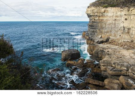 View Of Devils Kitchen Beach, Tasmania