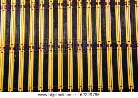 Texture of the bamboo mat as a background