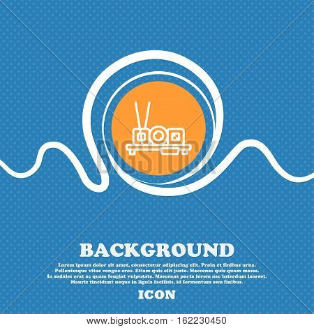 Sushi Icon Sign. Blue And White Abstract Background Flecked With Space For Text And Your Design. Vec