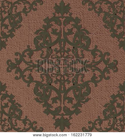 Vintage Baroque damask pattern Imperial style. Vector decor background. Luxury Classic ornament. Royal Victorian texture for wallpapers, textile, fabric