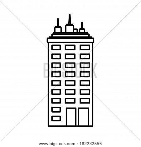 Urban city tower icon vector illustration graphic design