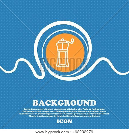 Sports Water Bottle Icon Sign. Blue And White Abstract Background Flecked With Space For Text And Yo