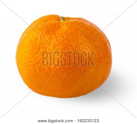 Ripe mandarin citrus isolated tangerine mandarine orange on white background.