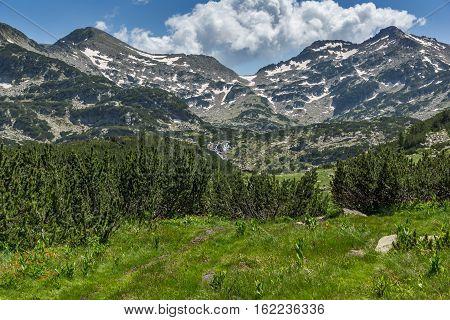 Amazing Panorama of Demirkapiyski chukar peak and pass, Pirin Mountain, Bulgaria