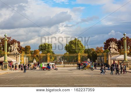 Entrance Of The Tuileries Garden In Paris, France