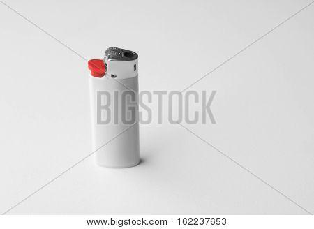 Blank cigar lighter on white background