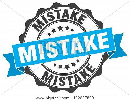 mistake. stamp. sign. seal. round. retro. ribbon