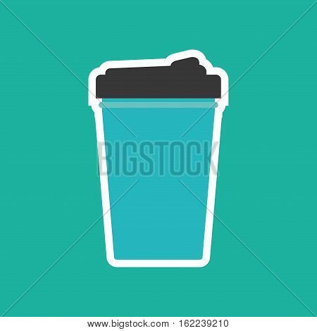 Drink thermo cup icon vector illustration graphic