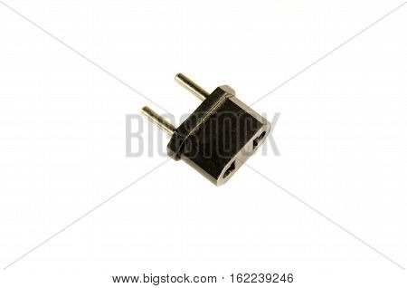 Adapter for the european socket isolated on white