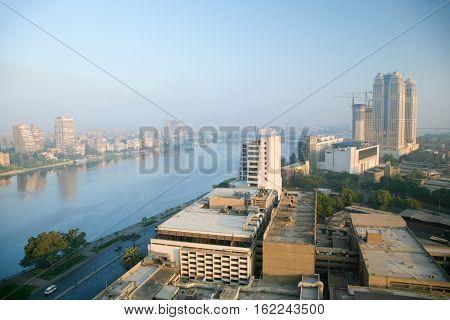 Nile River In Cairo City