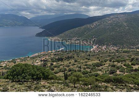 Seascape of Agia Effimia town, Kefalonia, Ionian islands, Greece