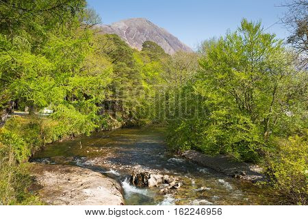 River Coe Glencoe Village Lochaber Scottish Highlands Scotland UK