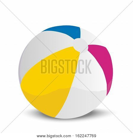 Very high quality original trendy vector realistic illustration of a beach ball