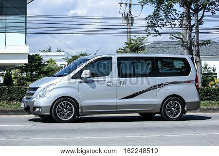 CHIANG MAI THAILAND - OCTOBER 30 2016: Private van. Hyundai H-1H1 Van from Korea. Photo at road no.1001 about 8 km from downtown Chiangmai thailand.