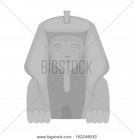 Sphinx icon in monochrome style isolated on white background. Ancient Egypt symbol vector illustration.