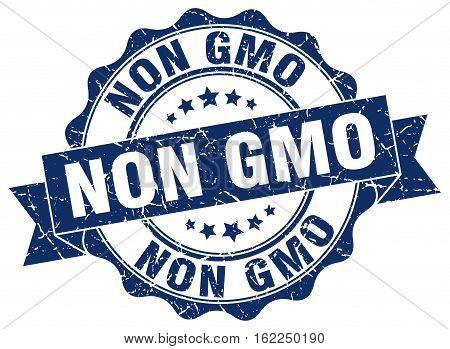 non gmo. stamp. sign. seal. round. retro. ribbon