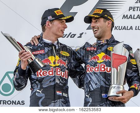 Daniel Ricciardo & Max Verstappen