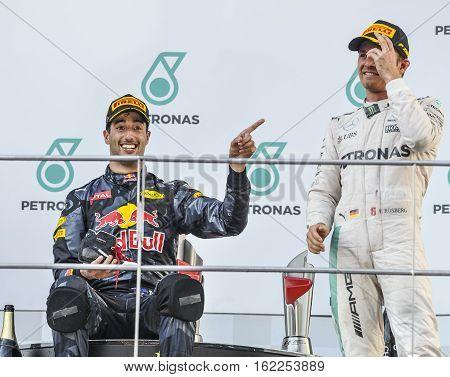 Daniel Ricciardo & Max Verstappen, Nico Rosberg