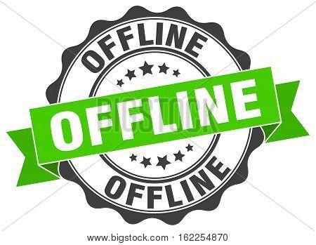 offline. stamp. sign. seal. round. retro. ribbon