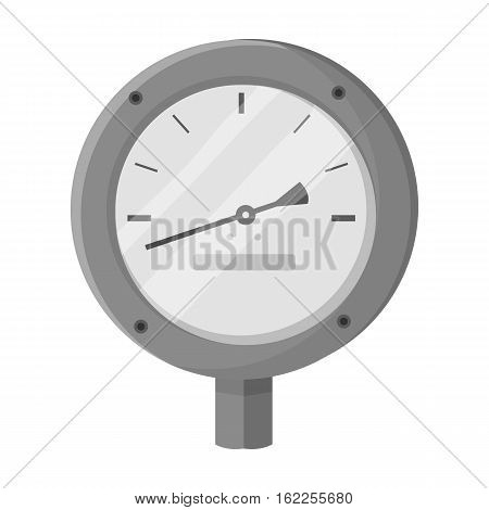 Oil manometer icon in monochrome style isolated on white background. Oil industry symbol vector illustration.