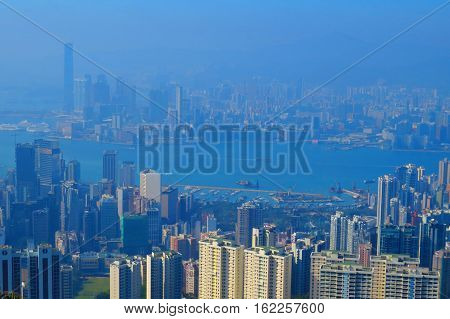 View From The Jardine's Lookout, Hong Kong