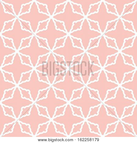 Seamless ornament in arabian style. Pattern for wallpapers and backgrounds. Pink and white pattern