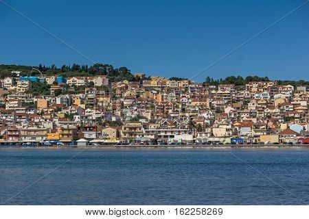 Panorama to Argostoli town, Kefalonia, Ionian islands, Greece
