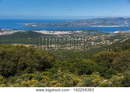 Amazing panoramic view of Argostoli town, Kefalonia, Ionian islands, Greece