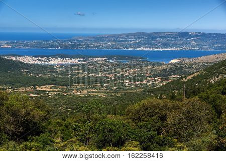 Amazing Panorama of Argostoli town, Kefalonia, Ionian islands, Greece