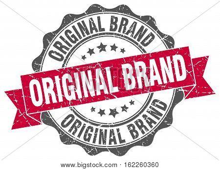original brand. stamp. sign. seal. round. retro. ribbon