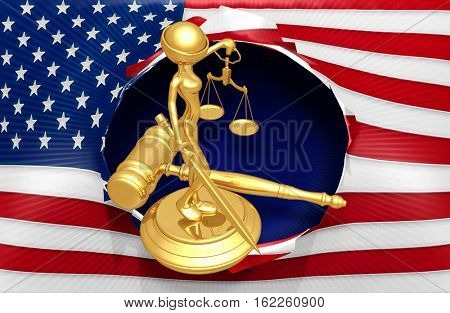 Law Legal Concept With The Original 3D Character Illustration Lady Justice