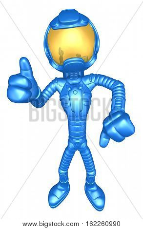The Original 3D Character Illustration Astronaut