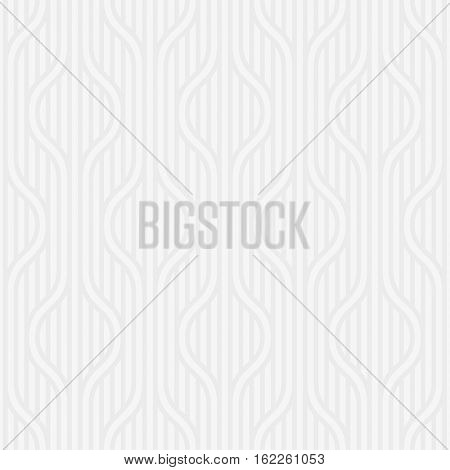 Stpiped wavy pattern. White Neutral geometric seamless patterns for web design. Monochromatic color tileable vector background.