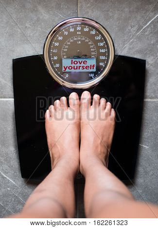 Scale That Speaks And Tells The Truth, Love Yourself