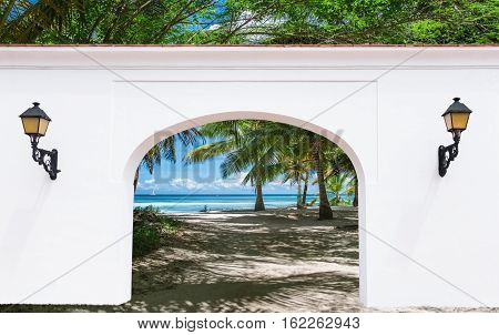 Arch Door On The Palm Alley