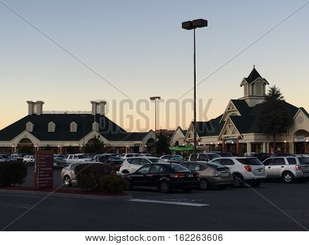 SEVIERVILLE, TN - OCT 7: Tanger Outlets in Sevierville, Tennessee, as seen on Oct 7, 2016. This is a haven for discount brand shopping.